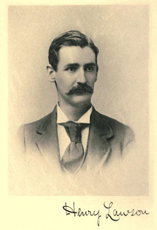 Photograph of Henry Lawson, 1896