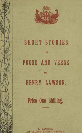 Short Stories in Prose and Verse, by Henry Lawson, front cover, 450h