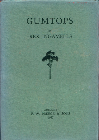 Gumtops, by Rex Ingamells, front cover 450h
