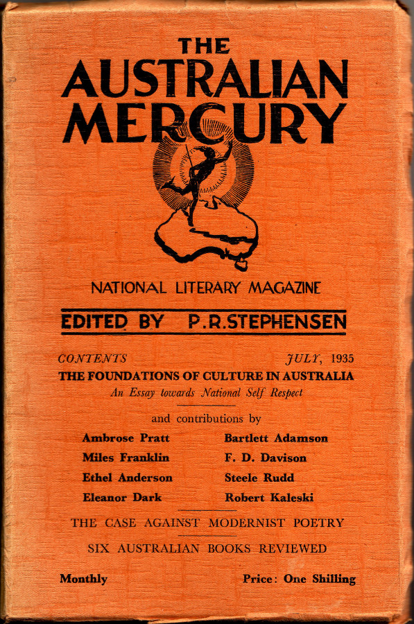 the foundations of culture in an essay towards national  the n mercury 1935