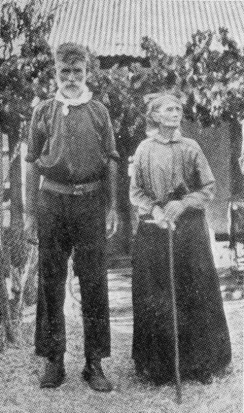 Jim Kelly and His Mother, in 1921, at the ripe old age of 85.