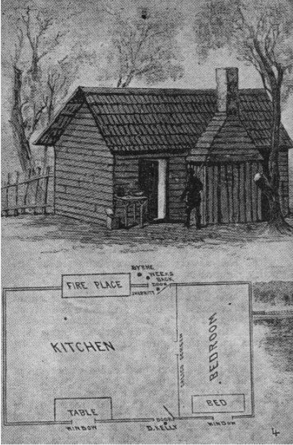 Ground Plan of Aaron Sherritt's house.
